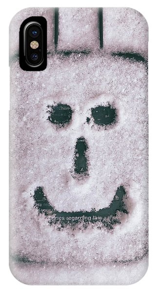 Bad Weather, Good Face IPhone Case