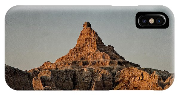 IPhone Case featuring the digital art Badlands At Sunrise by Christopher Meade