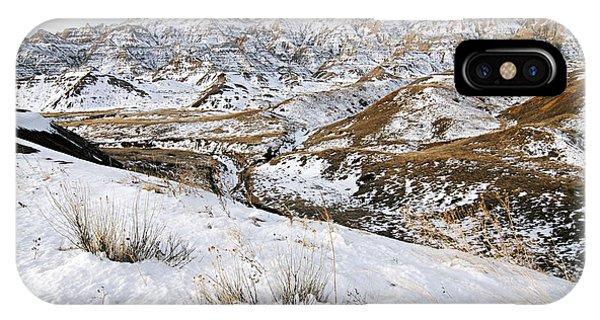 Badlands In Snow IPhone Case