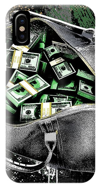 100 iPhone Case - Bag-o-money by Canvas Cultures