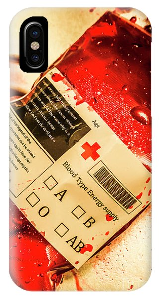 Bag Of Blood In Stainless Steel Surgical Ward IPhone Case