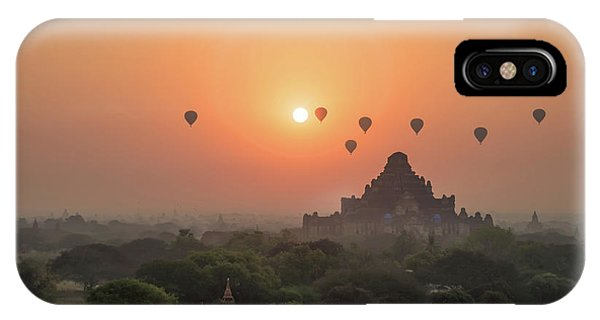 Burmese Python iPhone Case - Bagan Temple by Delphimages Photo Creations