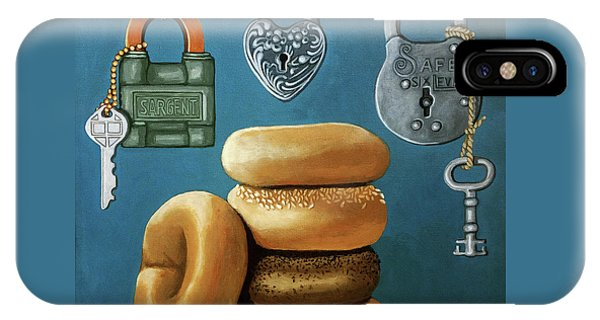 Bagels And Locks IPhone Case