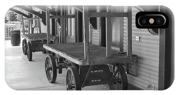 Baggage Carts Bw IPhone Case
