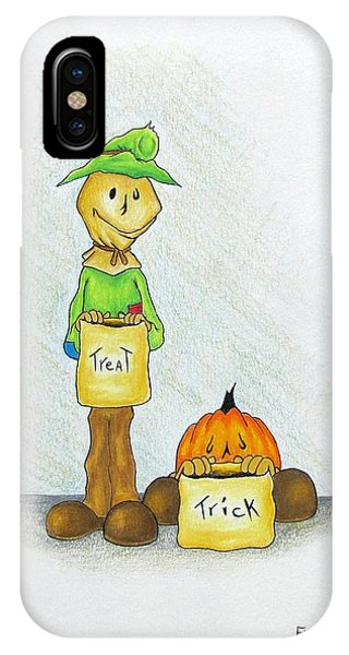 Baggs And Boo Treat Or Trick IPhone Case
