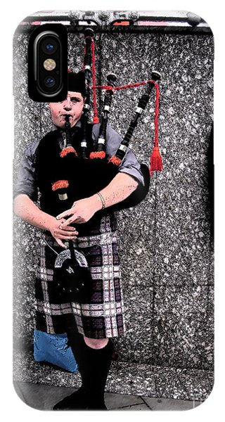 IPhone Case featuring the photograph Bagpipe by Janelle Dey