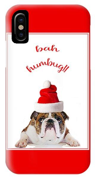 Bah Humbug English Bulldog Christmas IPhone Case
