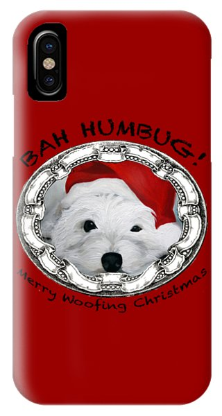 Bah Humbug Merry Woofing Christmas IPhone Case