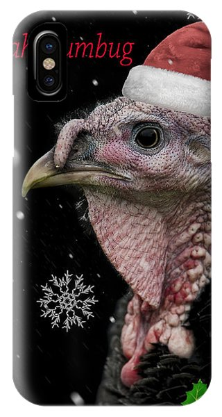 Turkey iPhone Case - Bah Humbug by Paul Neville