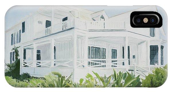 Porch iPhone Case - Bahamian House, 2004 by Alessandro Raho