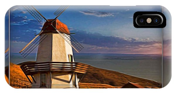 Baker City Windmill_1a IPhone Case