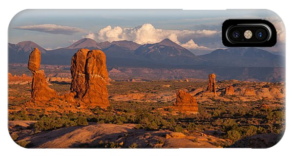 Balanced Rock And Summer Clouds At Sunset IPhone Case