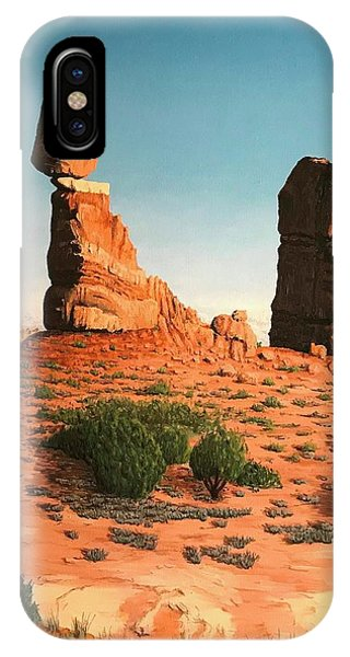 Balanced Rock At Arches National Park IPhone Case