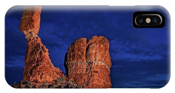 Balanced Rock Light Painted IPhone Case