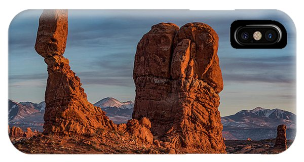 Arches National Park iPhone Case - Balanced Rock Sunset by Dan Norris