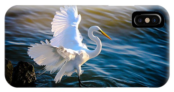IPhone Case featuring the photograph Balancing Act  Great White Egret  by Ola Allen