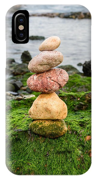 Balancing Zen Stones By The Sea Iv IPhone Case