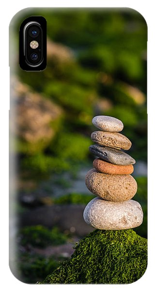 Balancing Zen Stones By The Sea IPhone Case