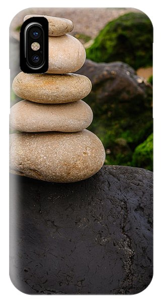 Balancing Zen Stones By The Sea V IPhone Case