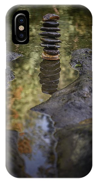 Balancing Zen Stones In Countryside River X IPhone Case