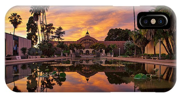 Balboa Park Botanical Building Sunset IPhone Case
