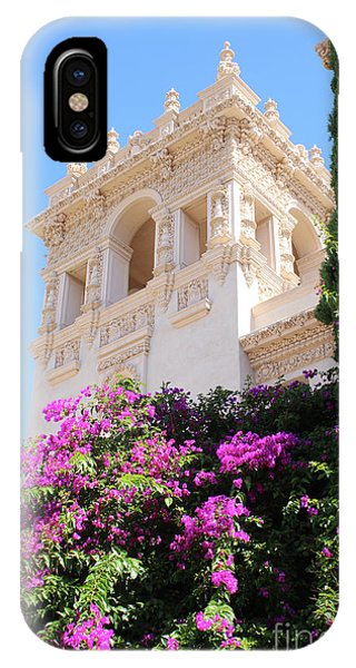 Prado iPhone Case - Balboa Park Hospitality House With Bougainvillea by Carol Groenen