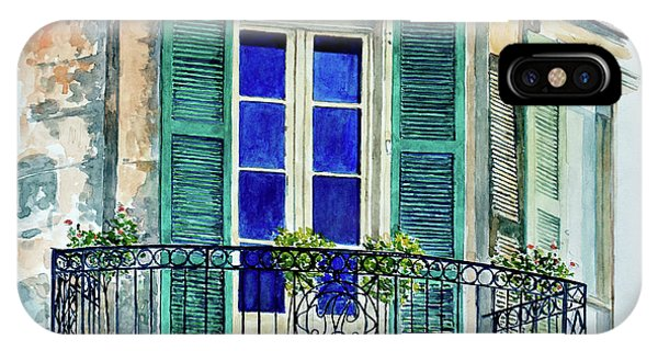 Ironwork iPhone Case - Balcony, New Orleans by Anthony Butera