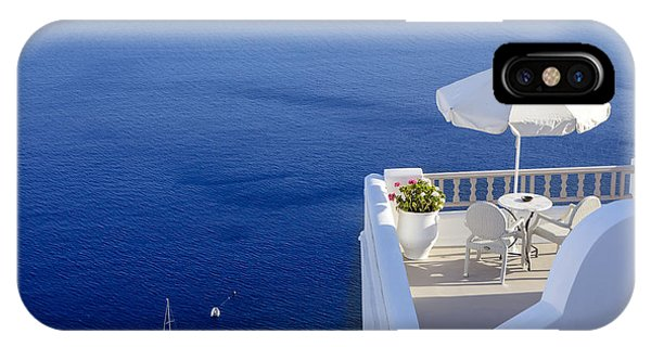 Balcony Over The Sea IPhone Case