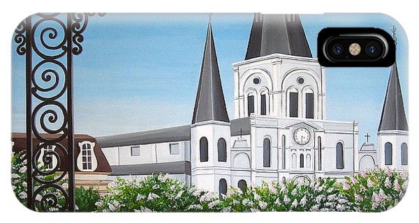 Balcony View Of St Louis Cathedral IPhone Case