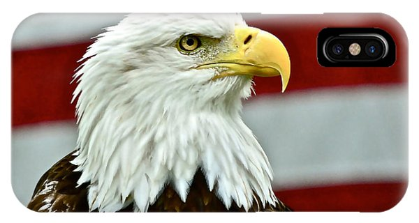 Bald Eagle And Old Glory IPhone Case