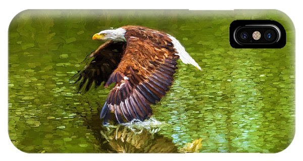 Bald Eagle Cutting The Water IPhone Case