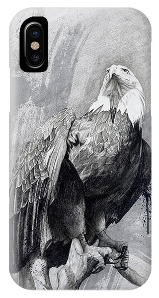 Bald Eagle Drawing IPhone Case