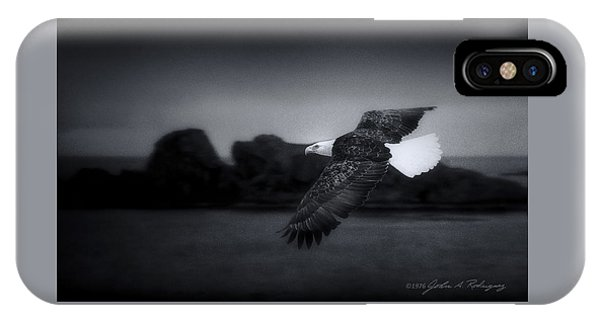 Bald Eagle In Flight IPhone Case