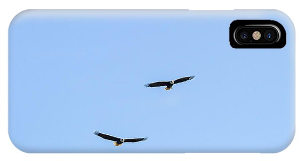 Bald Eagle Pair Phone Case by Michael Russell