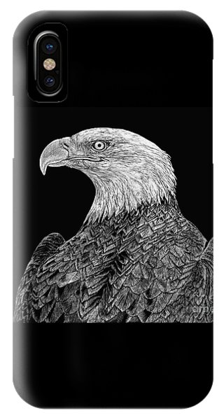 Bald Eagle Scratchboard IPhone Case