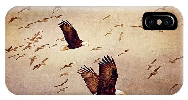 Bald Eagles And Seagulls IPhone Case