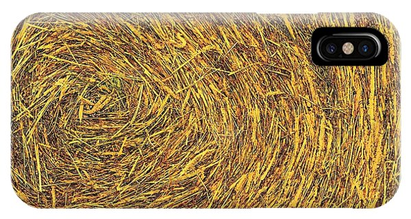 IPhone Case featuring the photograph Bale Texture 7347 by Jerry Sodorff