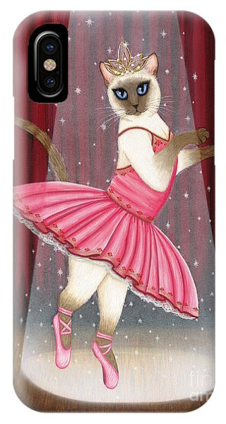 Ballerina Cat - Dancing Siamese Cat IPhone Case