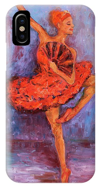 Ballerina Dancing With A Fan IPhone Case