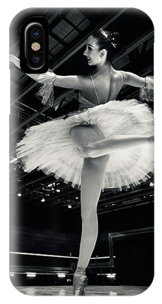 IPhone Case featuring the photograph Ballerina In The White Tutu by Dimitar Hristov