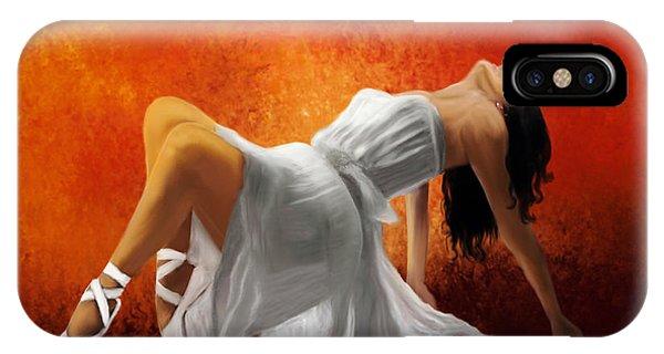 Ballerina In White IPhone Case