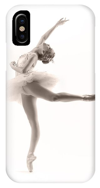 White iPhone Case - Ballerina by Steve Williams