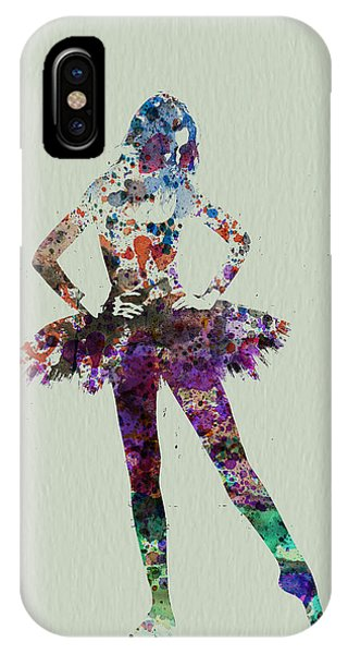 Ballerina iPhone Case - Ballerina Watercolor by Naxart Studio