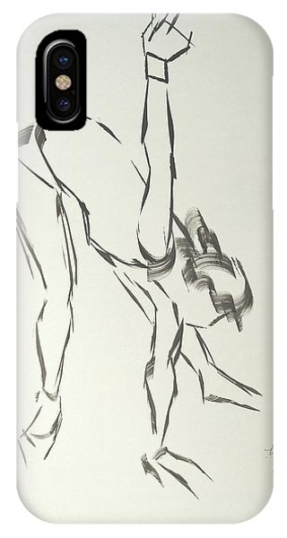 Ballet Dancer Bending And Stretching IPhone Case