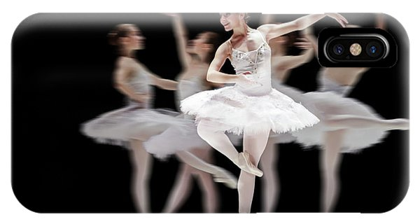 IPhone Case featuring the photograph Ballet Dancer Dance Photography Long Exposure by Dimitar Hristov