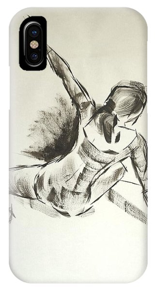 Ballet Dancer Sitting On Floor With Weight On Her Right Arm IPhone Case