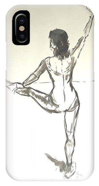 Ballet Dancer With Left Leg On Bar IPhone Case