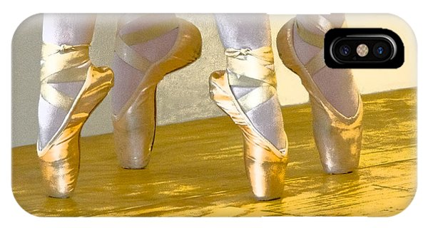 Ballet Second Position In Gold IPhone Case