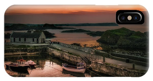 Ballintoy Harbour Sunset IPhone Case