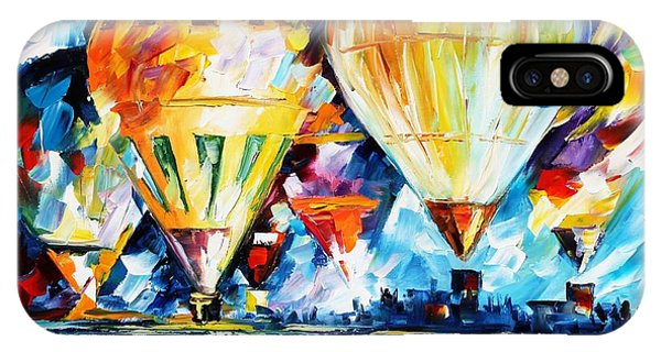 Afremov iPhone X Case - Balloon Festival New by Leonid Afremov